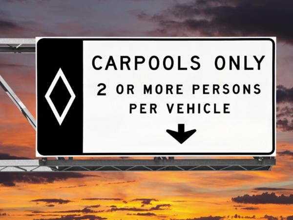 Carpool lane violations in Nevada
